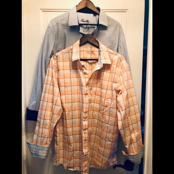 Bundle of 2 Tasso Elba XL dress shirts